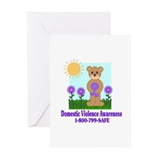 Stop Domestic Violence Greeting Card
