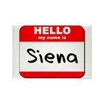 Hello my name is Siena Rectangle Magnet