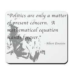 Math vs. Politics Mousepad