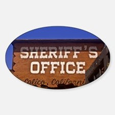 Law and Order Oval Decal