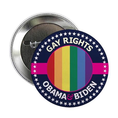 """Obama-Biden Gay Pride 26 2.25"""" Button (100 pa"""