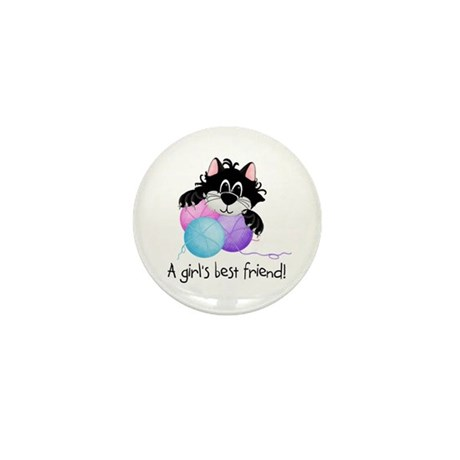 Girls Best Friend Mini Button