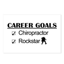 Chiropractor Career Goals Rockstar Postcards (Pack