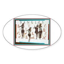 Bangles the Walk Like Egyptia Oval Decal