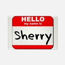 Hello my name is Sherry Rectangle Magnet