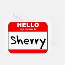 Hello my name is Sherry Greeting Card