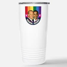Obama-Biden Gay Pride 30 Stainless Steel Travel Mu
