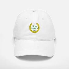 I Run Jamaica Green & Yellow Baseball Baseball Cap