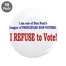 "NO VOTE #3 3.5"" Button (10 pack)"