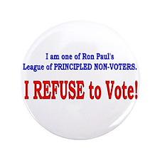 """NO VOTE #3 3.5"""" Button"""