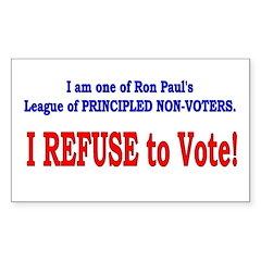 NO VOTE #3 Rectangle Sticker 50 pk)