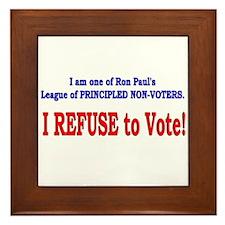NO VOTE #3 Framed Tile