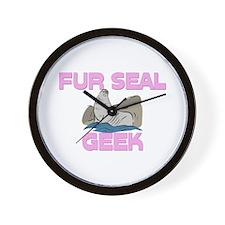 Fur Seal Geek Wall Clock