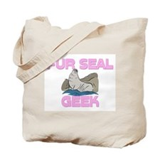 Fur Seal Geek Tote Bag