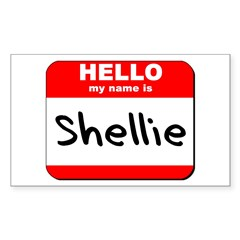 Hello my name is Shellie Rectangle Decal