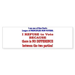 No VOTE #2 Bumper Bumper Sticker