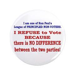 "No VOTE #2 3.5"" Button (100 pack)"
