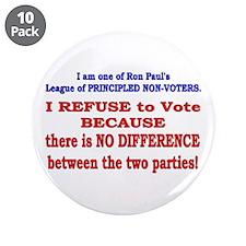 "No VOTE #2 3.5"" Button (10 pack)"