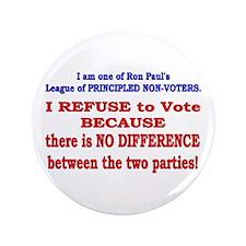 """No VOTE #2 3.5"""" Button"""