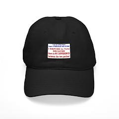 No VOTE #2 Baseball Hat