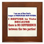 No VOTE #2 Framed Tile