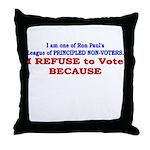 NO VOTE #1 Throw Pillow