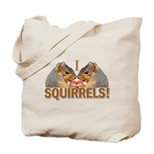 I Heart / Love Squirrels! Tote Bag