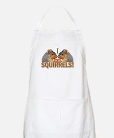 I Heart / Love Squirrels! BBQ Apron