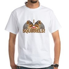I Heart / Love Squirrels! White T-Shirt