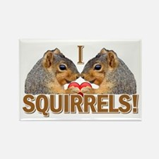 I Heart / Love Squirrels! Rectangle Magnet