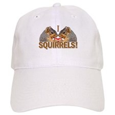I Heart / Love Squirrels! Baseball Cap