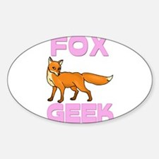 Fox Geek Oval Decal
