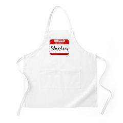 Hello my name is Shelia BBQ Apron