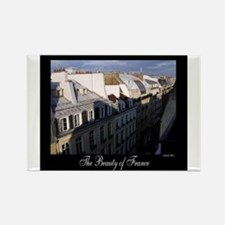 The Rooftops of Paris Rectangle Magnet