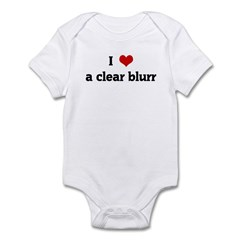 I Love a clear blurr Infant Bodysuit