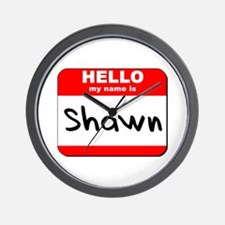 Hello my name is Shawn Wall Clock