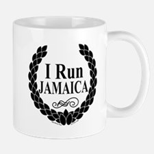 I Run Jamaica Black & White Mug