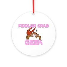 Fiddler Crab Geek Ornament (Round)