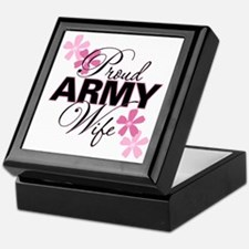 Proud Army Wife Keepsake Box