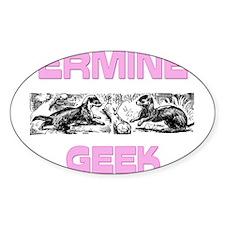 Ermine Geek Oval Decal