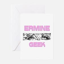 Ermine Geek Greeting Cards (Pk of 10)