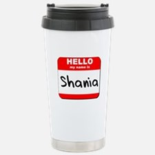 Hello my name is Shania Stainless Steel Travel Mug