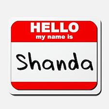 Hello my name is Shanda Mousepad