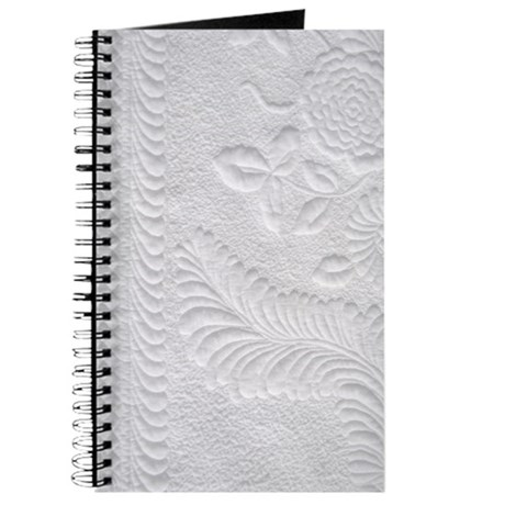 Whitework floral Journal