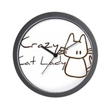 Crazy cat lady Wall Clock