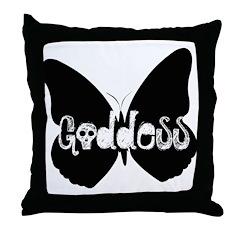 Goddess Butterfly Throw Pillow