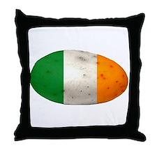 Cute Irish potato flag offensive stereotype st. patrick Throw Pillow