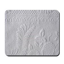Whitework floral Mousepad
