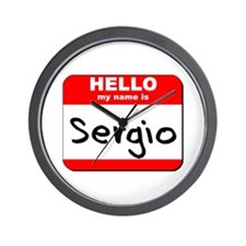 Hello my name is Sergio Wall Clock
