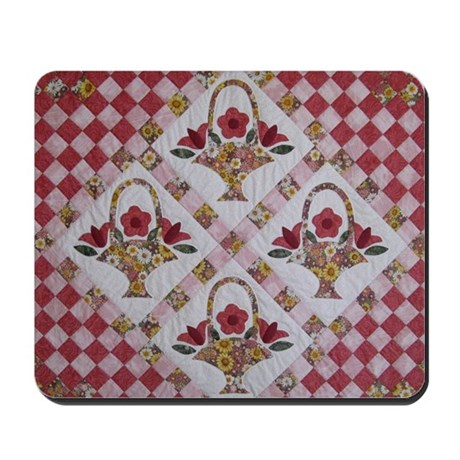 Trudy's Flower Baskets Mousepad